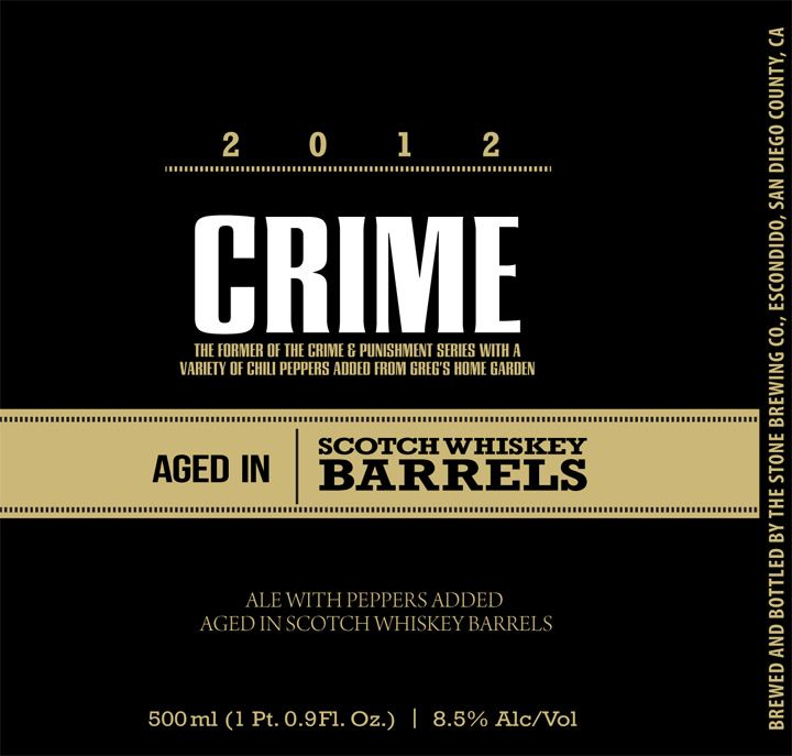 Crime aged in Scotch Whiskey Barrels