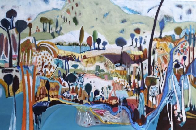 "SOLD ""This Corner of My World"" by Lisa Morgan www.tuskgallery.com.au"