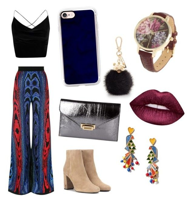 """Hippie"" by grekke on Polyvore featuring Balmain, Boohoo, Yves Saint Laurent, Casetify, Furla, Tory Burch and Lime Crime"