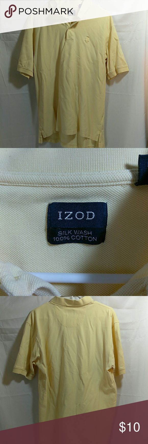 Izod polo shirt Izod size large yellow polo shirt used overall good condition. Izod Shirts Polos