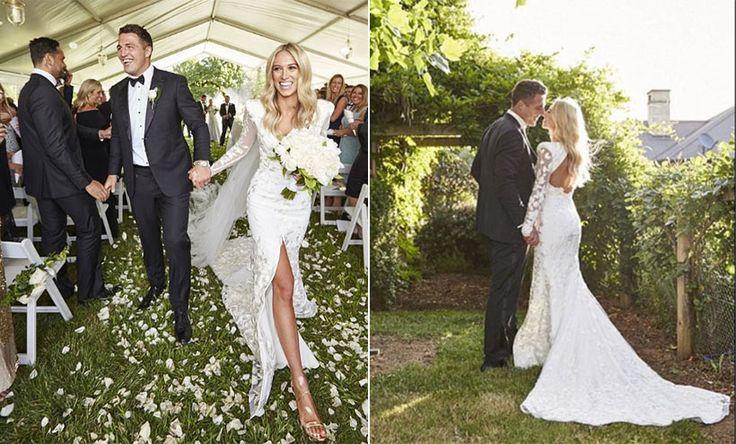 Rugby star Sam Burgess' romantic wedding to fiancée Phoebe Hooke in Australia