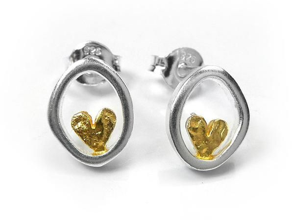 Silver Earrings - Cherished Hearts