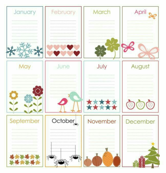 Anotações mês planner