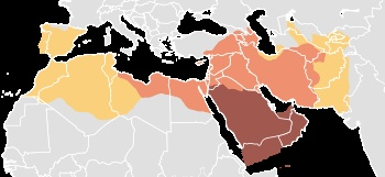 Age of the Caliphs    Expansion under Muhammad, 622–632/A.H. 1–11    Expansion during the Rashidun Caliphate, 632–661/A.H. 11–40    Expansion during the Umayyad Caliphate, 661–750/A.H. 40–129