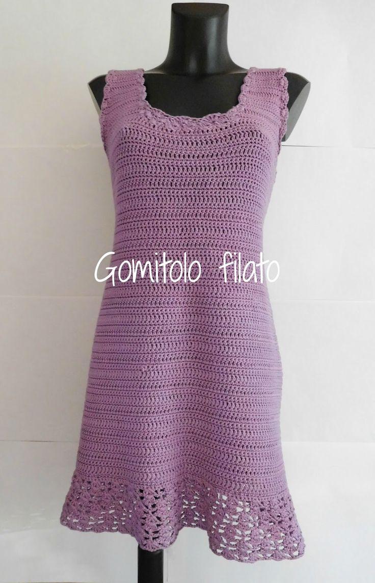 Gomitolo filato: Vestito lilla all'uncinetto