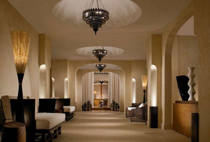 Anazoe Spa at the Romanos, Greece - mkv design. Relaxing colours, morrocan lighting, contemporary spa