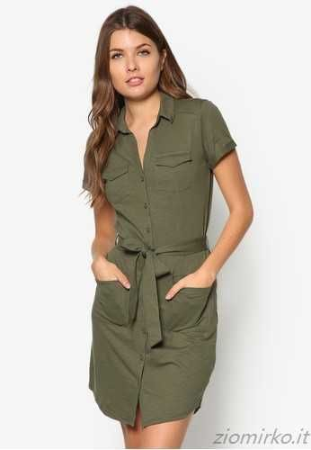 Miss Selfridge cachi camicia di vestito - verde scuro - Donna - Vestiti