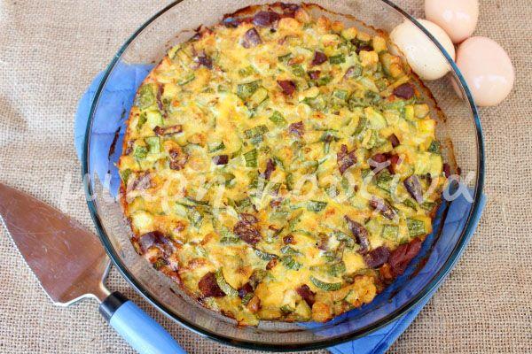 μικρή κουζίνα: Κολοκύθια φριτάτα στο φούρνο με χαμόν και παρμεζάν...