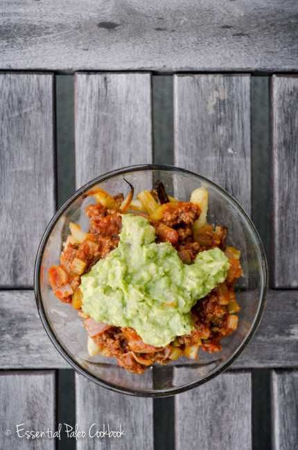 Chili Topped Parsnip Fries from The Essential Paleo Cookbook. Perfect snack for football watch parties! #paleo