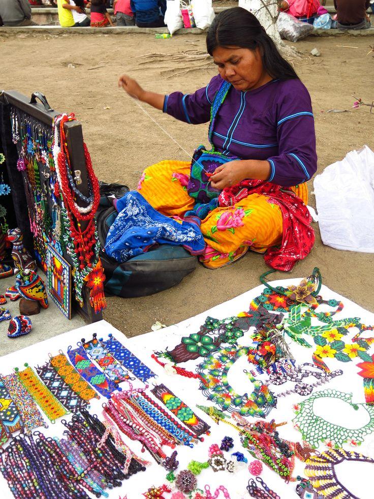 Beading artisan. Tlocolula, Mexico.