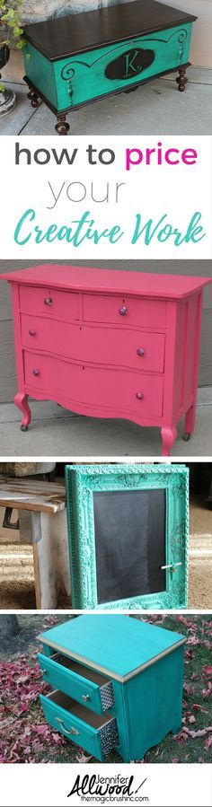 How to price your crafts painted furniture and other creative work. This webinar will help your determine fair prices and help you start charging for your talents!