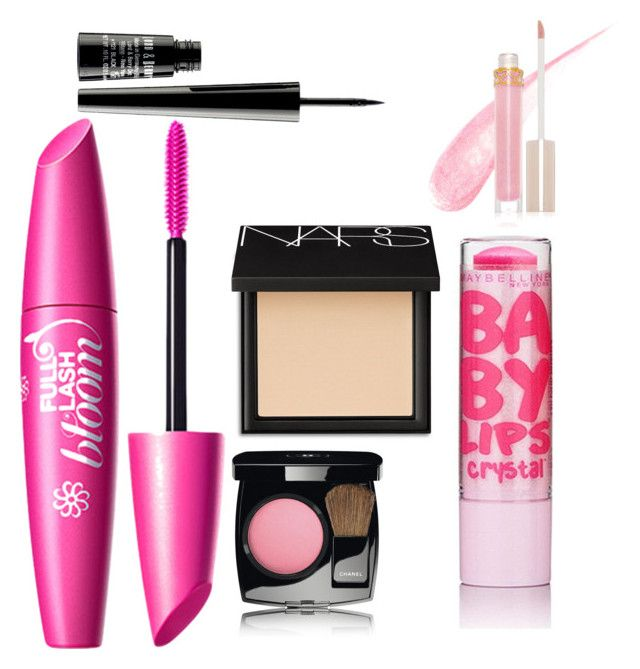 """""""Middle school makeup kit"""" by gabrielleann15 on Polyvore featuring beauty, Stila, Chanel, NARS Cosmetics, Maybelline and Lord & Berry"""