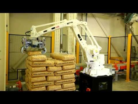 ABB Robotics - Picking and Packing stock cubes - YouTube