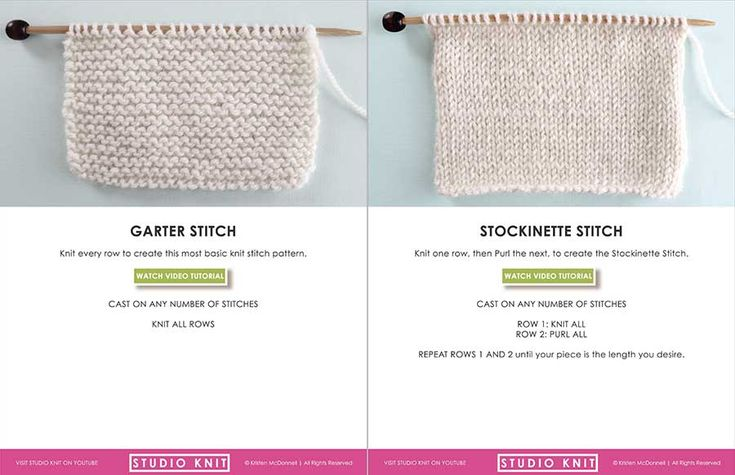 Knit Stitch Pattern Book for Absolute Beginner Knitting Series by Studio Knit