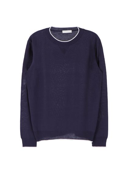 Contrast Hem Knit Pullover | MIX X MIX | Shop Korean fashion casual style clothing, bag, shoes, acc and jewelry for all