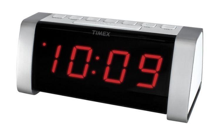 Time Clock Radio Small Bedside Timex Alarm AM FM Dual #TimexAudio