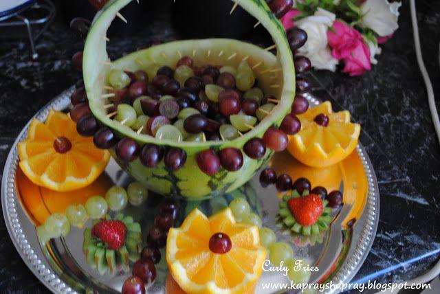 Mehndi Fruit Decoration : Mehndi fruit basket bridesmaid thoughts pinterest