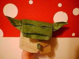 Instructions for folding an Origami Yoda like the one on the cover!