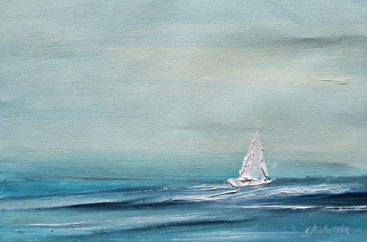Fale, morze, żaglówka - obrazy marynistyczne Sylwia Michalska