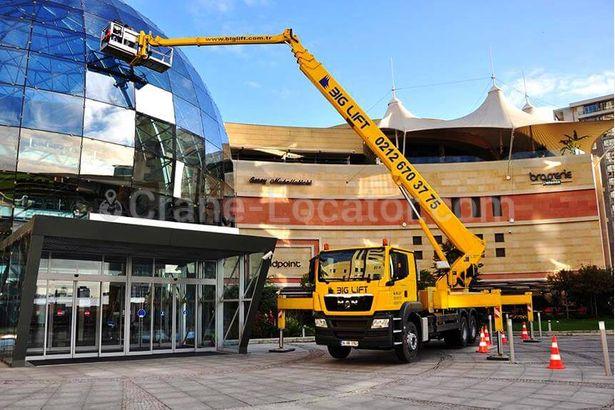 Truck aerial working platform MAN 53 m Truck aerial working platform for RENT =Crane-Locator=