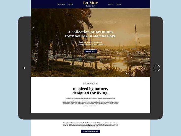 La Mer, Martha Cove - Website by Small & Co