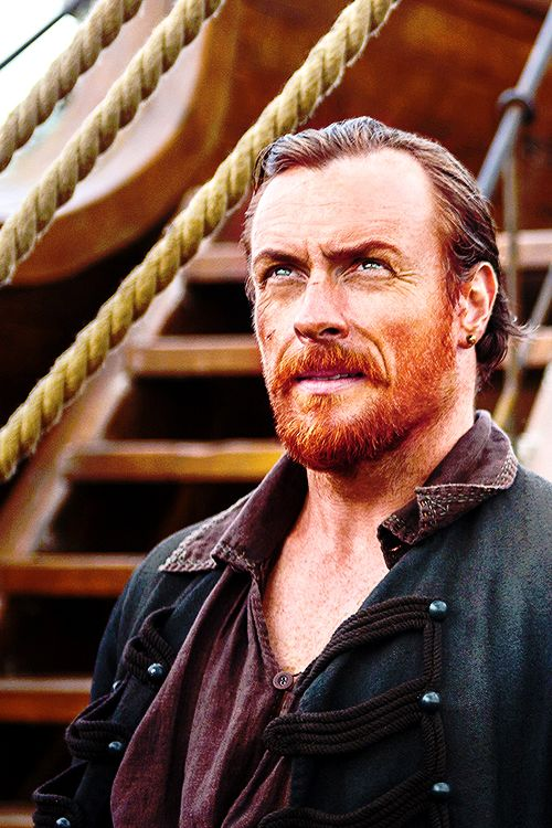 Ugh I love him, Toby Stephens as Captain Flint in Black Sails. My weakness is a bearded ginger.