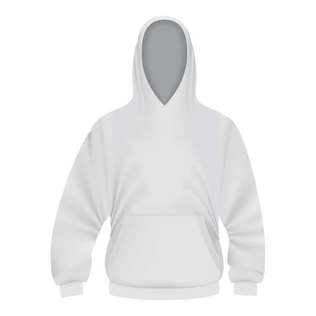 White Hoodie Mockup Realistic Style Cloth Sleeve Hood Png And Vector With Transparent Background For Free Download Hoodie Mockup Hoodie Vector White Hoodie