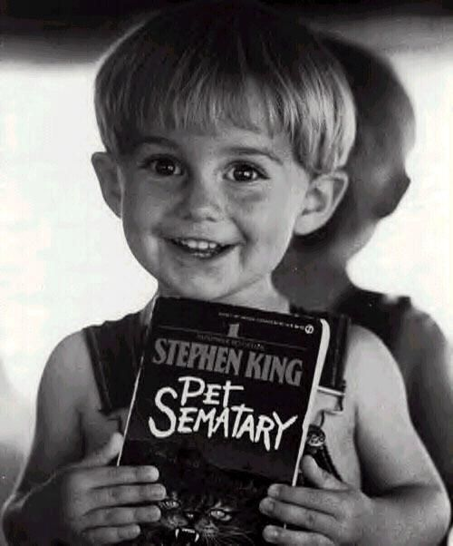 Oh this kid was a bundle of cute and crazy scary. Love it