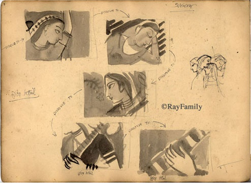 Satyajit Ray/Sketches  (সত্যাজিত রায়)  An awe inspiring personality - whose talents and body of work will inspire generations to come.