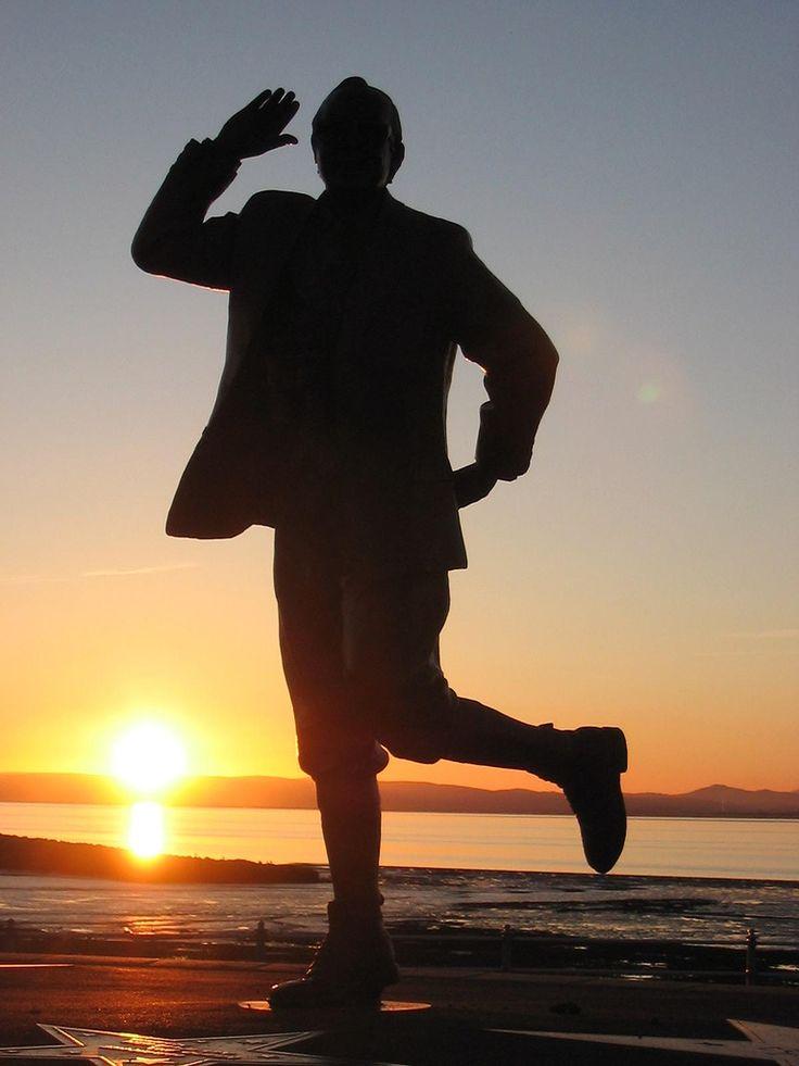 Eric Morecambe at Sunset