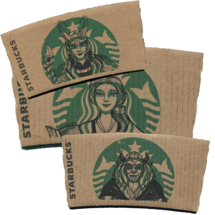 Incredible STARBUCKS-SLEEVE Works of Art Of course, after viewing these awesome creative works of Starbucks-sleeve art, you'll never look at a Starbucks' sleeves the same way again...
