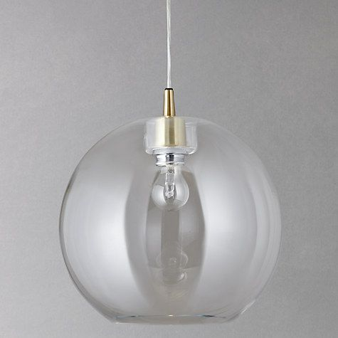 Buy Belid Gloria Glass Brass Pendant Light Online at johnlewis.com