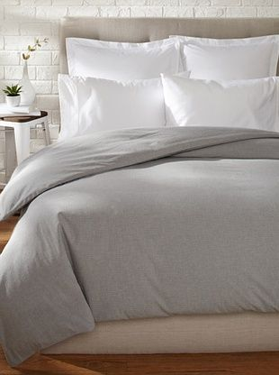 55% OFF Coyuchi Mini Check Duvet Cover (Heather Gray)