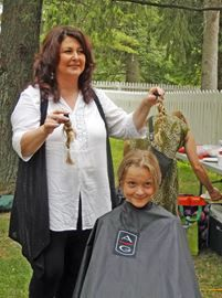 Braids and Buzz collects hair and money for kids charity | Brant News | July 31, 2014  #AngelHairforKids #hair #donate