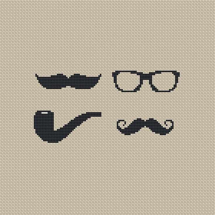 Buy 4 get 1 free ,Buy 6 get 2 free,Cross stitch pattern, Cross-StitchPDF, pattern design ,Happy father's day ,glasses,beards,pipe,zxxc0223. $4.50, via Etsy.