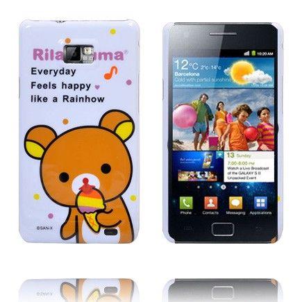 Cute Cartoon (Oranssi Nallekarhu) Samsung Galaxy S2 Suojakuori