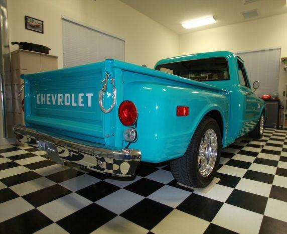Turquoise Chevy Short Bed | Barrett-Jackson Lot: 163.1 - 1968 CHEVROLET C-10 SHORT BED PICKUP