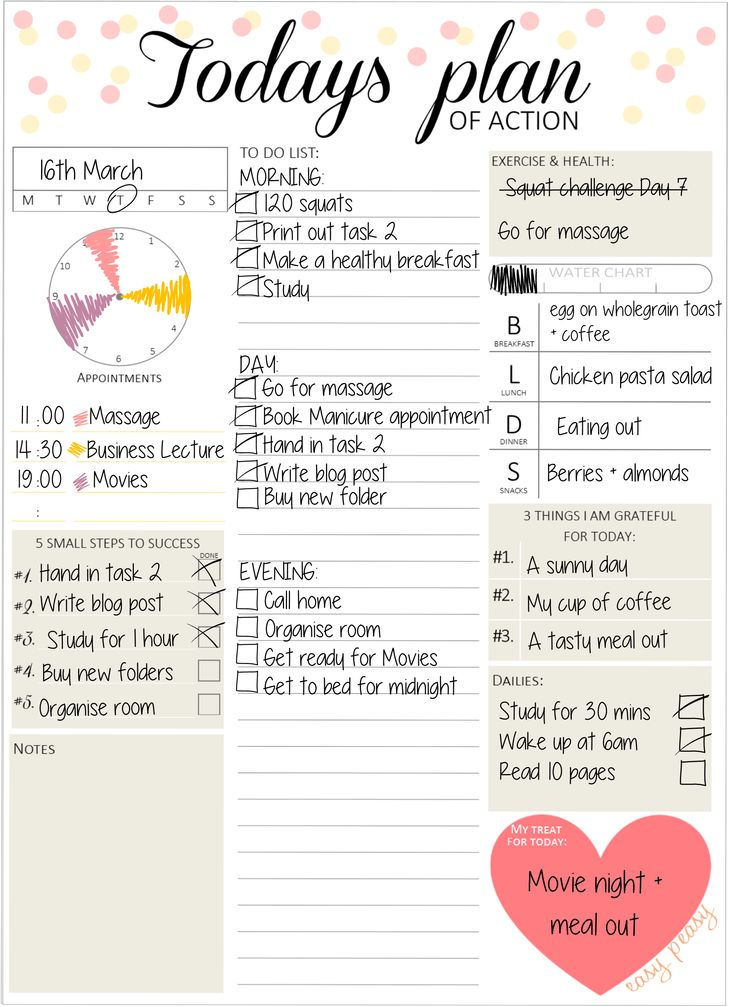 Organise your day with this chic daily planner from #EasyPeasyPaper on Etsy https://www.etsy.com/uk/shop/easypeasypaper