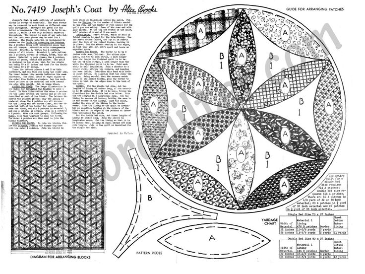 Q is for Quilter » Blog Archive » Alice Brooks Quilt Pattern – Joseph's Coat