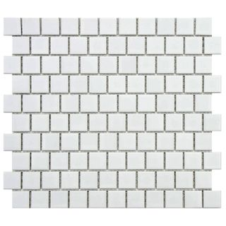 SomerTile 10.75x11.75-inch Victorian Square 1-inch Matte Offset Porcelain Mosaic Tile (Pack of 10) | Overstock.com