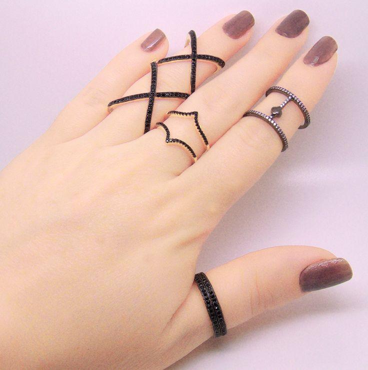 Blog Rivera Joias: Anéis vazados e anéis em X, os mais desejados!