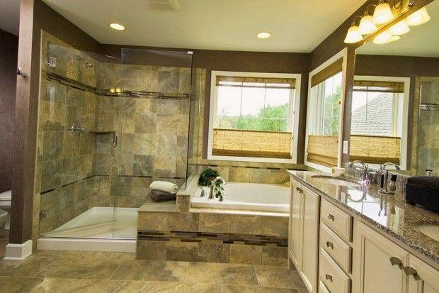 Отделка ванной комнаты мраморной плиткой