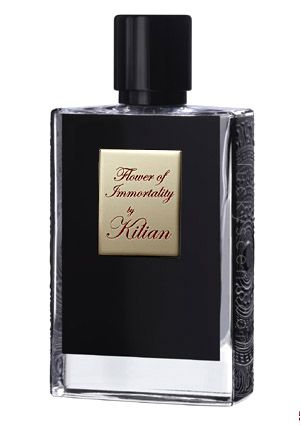 By Killian Flower of Immortality. Perfumer: Calice Becker.  Notes: White peach, blackcurrant bud, freesia, iris, rose crystal, vanilla, tonka bean, white musk.  Impression. Subtle, elegant, & almost mysterious; a floral that doesn't scream flowers.