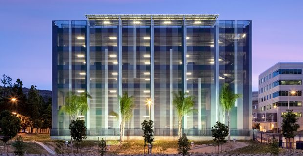 FBI facility in San Diego, made by HGA Associates, with 4500 m2 of Soltis FT 381
