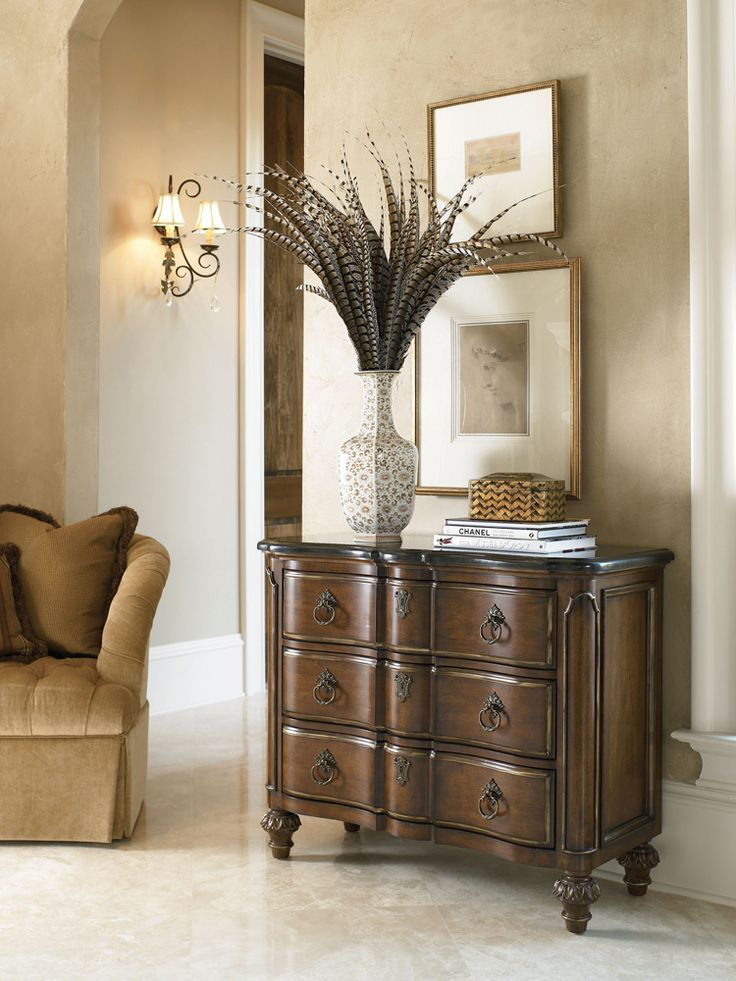 drexel bedroom set%0A The elegant  black granite topped Drexel Heritage Casa Vita Moretti Hall  Chest is available in