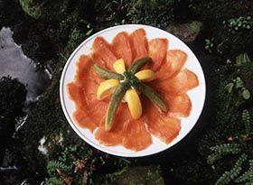 Yummy smoked salmon plate
