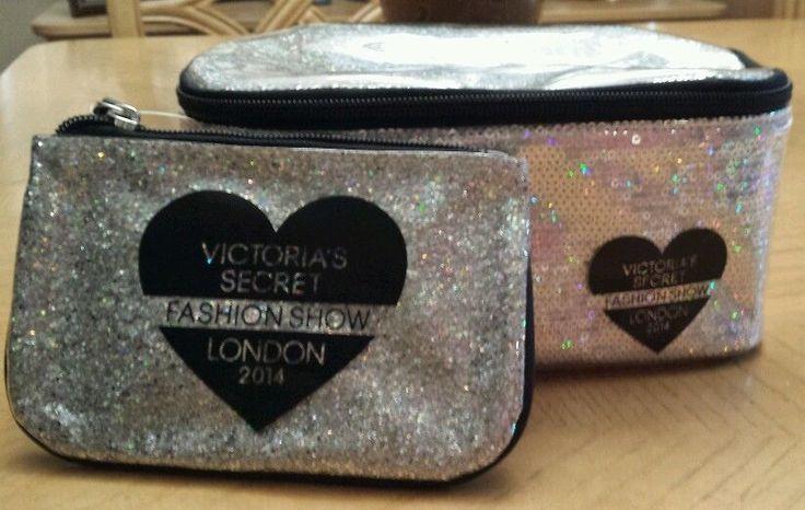 Victorias Secret Makeup Bag & Mini Rush Bag Keychain London Fashion Show 2014