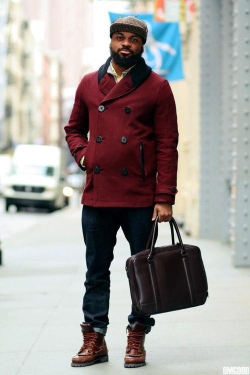 blackfashion:    Alex. Brooklyn,NY  IG: quickstrike_sykes Boots: Ronnie Fieg x Sebago Hat: Supreme Bag:Zara