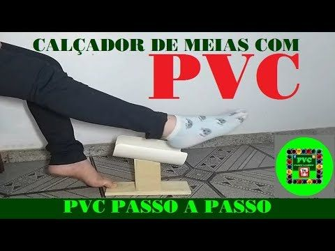 Como fazer calçador de meias com cano PVC
