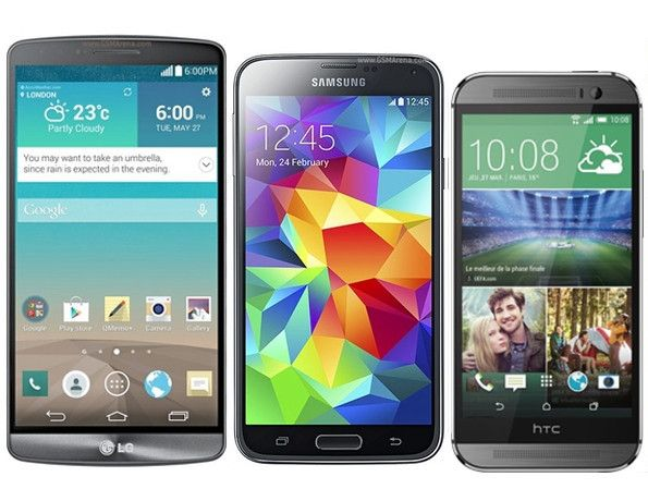 Samsung Galaxy S5 vs LG G3 vs HTC One M8: Full Spec Comparison [VIDEO]